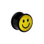 "Plug acrylique ""Smiley"""
